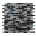 Splashback Tile Seattle Skyline Blend Bricks 1/2 in. x 2 in. Marble and Glass Tile Bricks - 6 in. x 6 in. Floor and Wall Tile Sample-R4B6 at The Home Depot