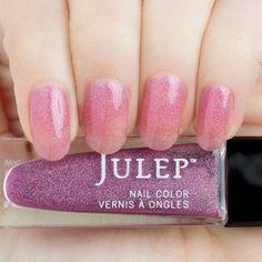 Yiyi - Pink freesia holographic jelly nail polish - Julep