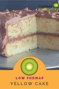 Low FODMAP Yellow Cake This tender low FODMAP yellow cake is a standby Basic recipe. Use it for birthdays or. Fodmap Dessert Recipe, Fodmap Recipes, Dessert Recipes, Healthy Desserts, Healthy Food, Healthy Eating, Lactose Free, Dairy Free, Gluten Free