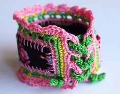 Crochet jewelry bracelet by Coco_Flower, via Flickr