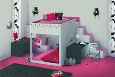1000 images about chambre on pinterest lit mezzanine bunk bed and mezzanine. Black Bedroom Furniture Sets. Home Design Ideas