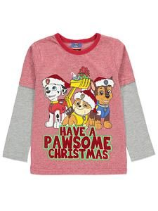 58429fee14477 Kids Christmas Tops Online: Paw Patrol Long Sleeve Christmas Top –  Novelty-Characters Paw