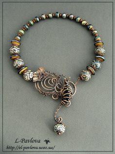 Necklace | Elena Pavlova. 'Autumn sadness'