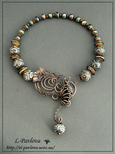 Necklace | Elena Pavlova. 'Autumn sadness'
