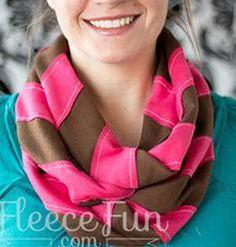 Sew Can She | Free Daily Sewing Tutorials  .  http://www.fleecefun.com/chevron-scarf.html