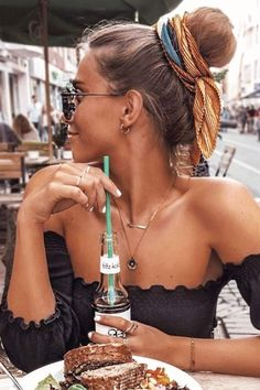 Outstanding A High Bun With A Scarf  #bun   #updo  ★ Cute and easy bun hairstyles for short hair, shoulder length or for long hair. Pick a formal one for work or fancy events. ★ See more:  glaminati.com/…   #glaminati   #lifestyle    The post  A High Bun With A Scarf #bun #updo ★ C ..
