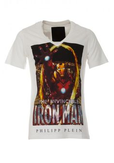 Philipp Plein - 'The Invincible' T Shirt White | Be invincible in this PHILIPP PLEIN t-shirt. Funny tee perfect for your casual outfits.