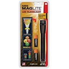 Maglite 2 AA Black LED W/ Nylon Sheath