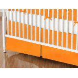 orange crib skirt