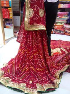 Rajasthani Traditional Kota Cotton Saree with Gota Patti Designer Wedding Sari