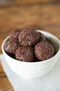 Brigadeiro - A brazilian chocolate bonbon covered in chocolate sprinkles