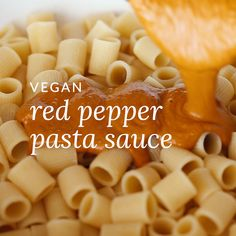 Creamy vegan pasta sauce made from roasted red bell peppers. A great alternative to tomato-based sauces. Easy and simple recipe perfect for any kind of pasta. Best Picture For Vegan Recipes For Your T Vegan Pasta Sauce, Creamy Vegan Pasta, Pasta Sauce Recipes, Pasta Sauce Alternatives, Sauces For Pasta, Pasta Recipes Video, Healthy Pasta Sauces, Easy Pasta Sauce, Tomato Sauce Recipe