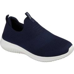 9b8a6efacee Skechers Women s Ultra Flex First Take Slip-On Sneaker Navy (Blue) (us