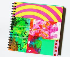 Rainbow Art Journal with Unique Pages - One of a kind via Etsy
