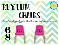 Students LOVE playing rhythm chairs. This is great for kids of all ages and really helps solidify their understanding of beat versus rhythm!
