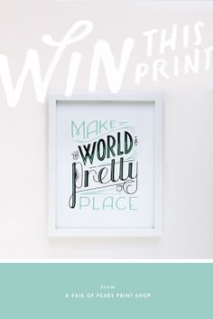 Pretty Place Art Print by a pair of pears