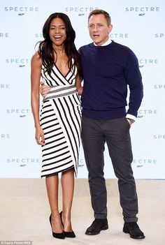 Naomie Harris and Daniel Craig - Official announcement photocall for the new 007 'Spectre'.  (December 4, 2014)