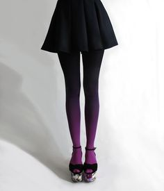 """""""Ombre"""" tights from Germany."""