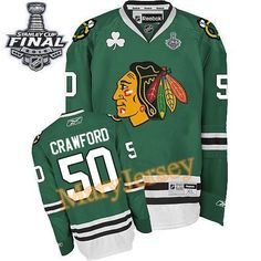 Only $34.88 please email me at maryjerseyelway@gmail.com for Blackhawks 50 Corey Crawford Green 2015 Stanley Cup Stitched NHL Jersey