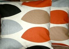 2 18 New Rust Red Brown Grey by MARIESCOSYCUSHIONS on Etsy, $37.00
