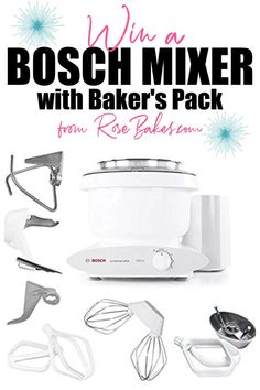 Find out how you can enter to Win a Bosch Mixer over at RoseBakes.com! #giveaway #boschmixer #bosch #boschgiveaway #freebie #competition #blogginganniversary #anniversarygiveaway