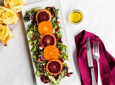 Blood Orange and Persimmon Winter Salad