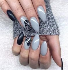 Best Gel Nails You Can Copy. If you attending below, you will acquisition some of the actual best gel nails that we could find. Gel nails are Classy Nail Designs, Black Nail Designs, Pretty Designs, Nail Art Designs, Classy Acrylic Nails, Classy Nails, Henna Designs, Leopard Nail Art, Organic Sculpture