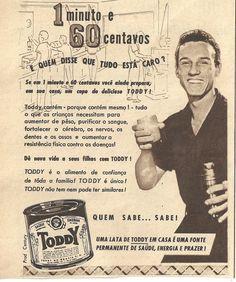 revista seleçoes anos 60 | antiga propaganda revista Seleções de 1957 com Lata de Toddy: