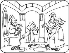 Teaching In The Temple Coloring Page At