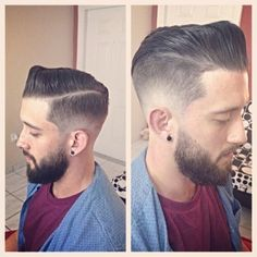 Slick Side Combed Hair