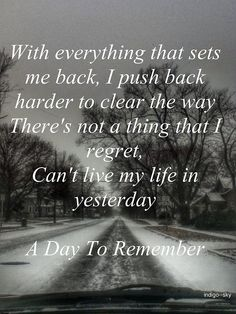 I'm Already Gone - A Day To Remember