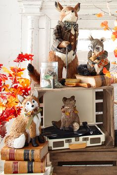 Say hello to Pier 1's season greeters. Part of our Woodland Treasures Collection, these handcrafted critters are full of personality—from book lover and amateur DJ to intrepid explorer. How can you top adorable?