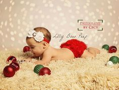 Christmas Red Diaper Cover  Matching Headband by LillyBowPeep, $12.95