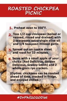 Reach for a healthier snack with this easy roasted chickpea recipe!