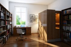 A Retractable Sauna Roughly The Size Of Bookcase New By Klafs Is First In World That Can Retract At Touch On