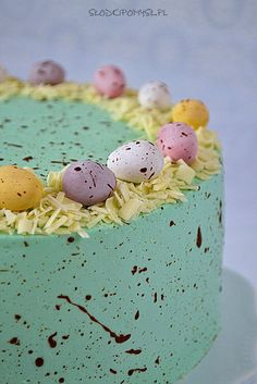 Mini Eggs Cake, Ideas Decoracion Cumpleaños, 6th Birthday Cakes, Easter Pillows, Spring Cake, Cakes And More, Custom Cakes, Food And Drink, Sweets