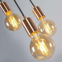 Lámpara colgante FACIL 3 cobre #iluminacion #decoracion #interismo