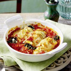 Überbackene Auberginen-Cannelloni Rezept