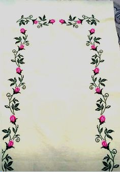 Cross Stitch Designs, Tapestry, Embroidery, Flowers, Art, Cross Stitch Borders, Cross Stitch Rose, Crochet Bodycon Dresses, Towels
