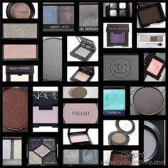 Bright/Clear/Pure Winter eye shadow collage