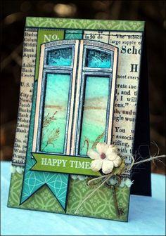 Happy Times-Glass Window Technique