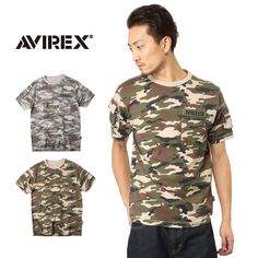 AVIREX アビレックス 6143387 FATIGUE クルーネックTシャツ CAMO