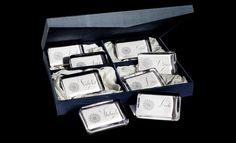 Bernard Maisner - Silver Snowflake Holiday Box -- -- Custom Social Stationery, Fine Engraved Stationery, Wedding Invitations and Hand Lettering for Advertising, Film & TV