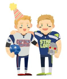 """Captain America and Star-Lord's Big Super Bowl Bet"" -- And this bet is exactly why I love both Chrises…they are amazing human beings! Chris Pratt, Chris Evans, Spiderman, Avengers Art, Star Lord, Bucky Barnes, Marvel Movies, Guardians Of The Galaxy, Marvel Cinematic Universe"