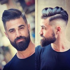 Fading A Beard Into Your Hair - Cool High Skin Fade with Textured Comb Over