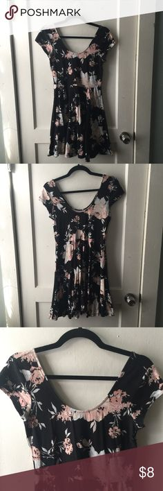 URBAN OUTFITTERS Kimchi Blue Floral Skater Dress Has pilling (can see in pictures). Slightly faded. Price is firm. Urban Outfitters Dresses Mini