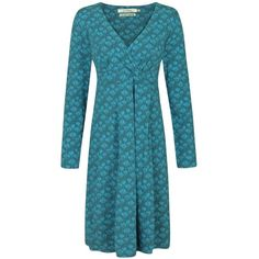 Women's Seasalt Crest Dress (71 BAM) ❤ liked on Polyvore featuring dresses, print dress, blue pattern dress, heart print dress, heart pattern dress and heart shaped dress