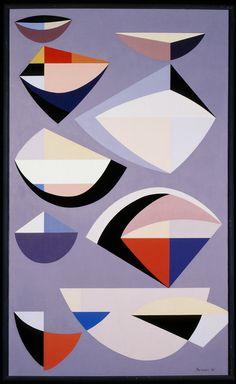 Karl Benjamin (b. 1925)  Abstraction, 1955