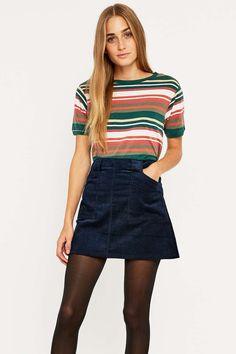 cdd73cd6fa00 BDG Double Stripe T-shirt Striped Tee