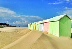 Best beach huts - Berck Sur Mer - Copyright Office du Tourisme de Berck-sur-mer #beach #huts #Europe #Travel http://www.europeanbestdestinations.com/top/best-beach-huts-in-europe/